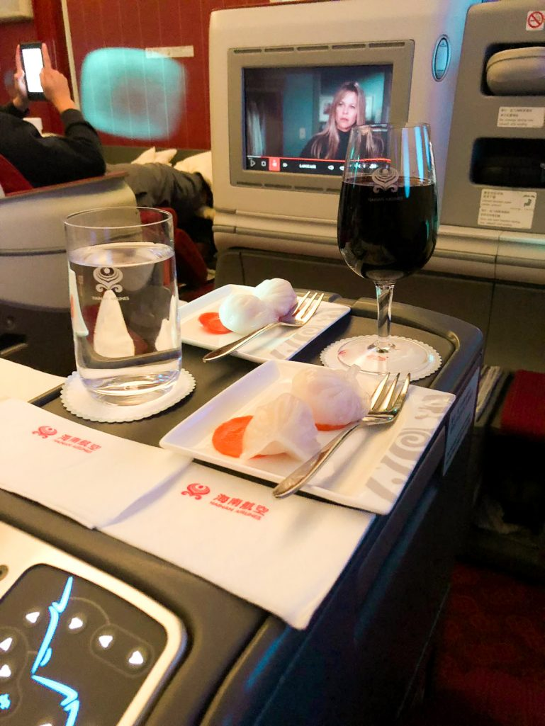 Amuse-bouche on Hainan Airlines business class flight.