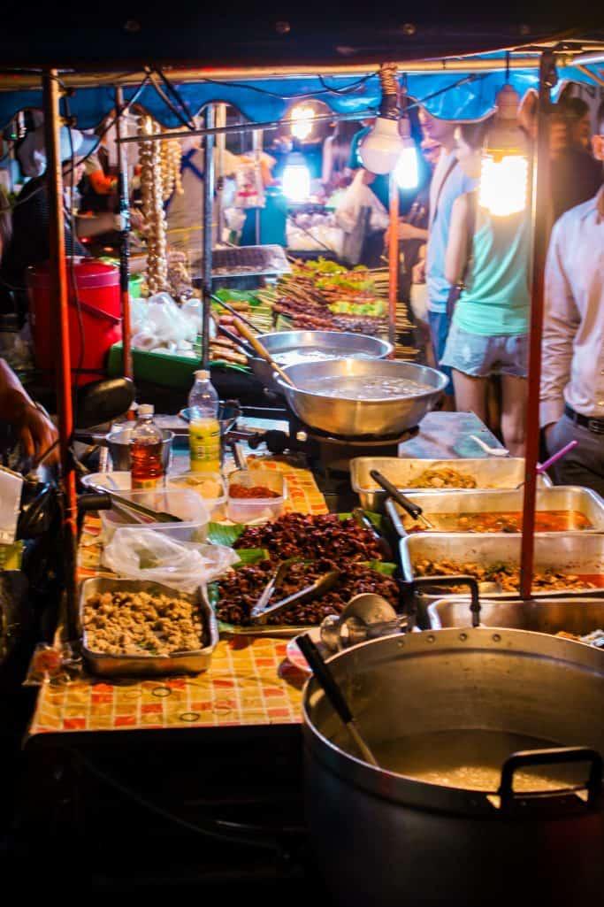 Thai dishes at Banzaan fresh market in Phuket, Thailand