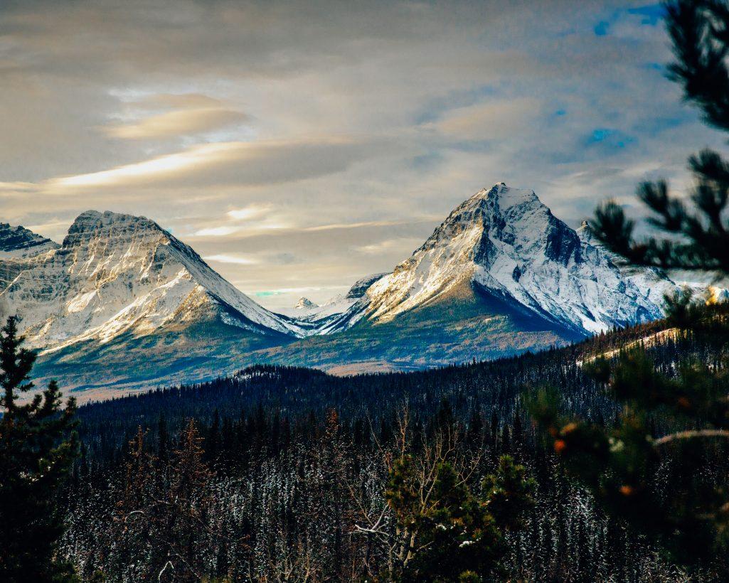 Jasper Mountains Snow