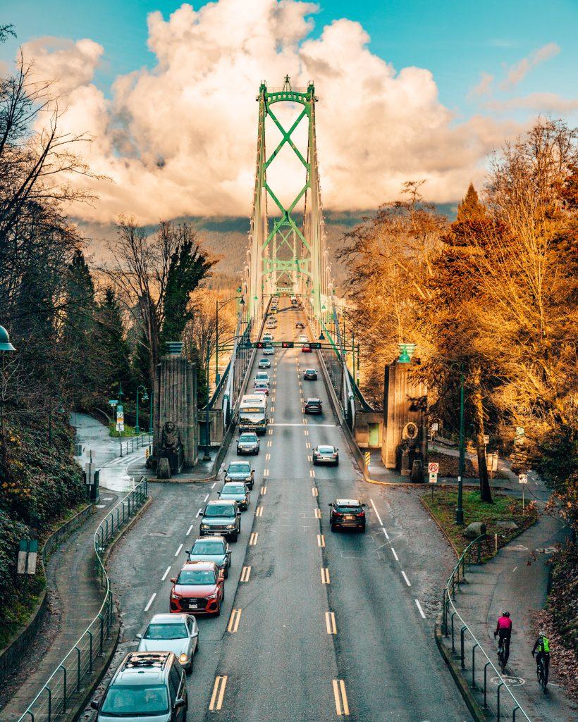 Lions Gate Bridge in Stanley Park Vancouver