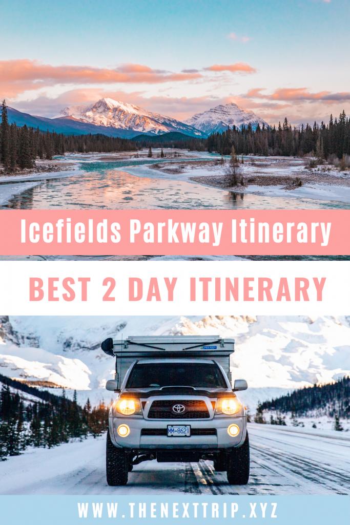Icefields Parkway Jasper Itinerary