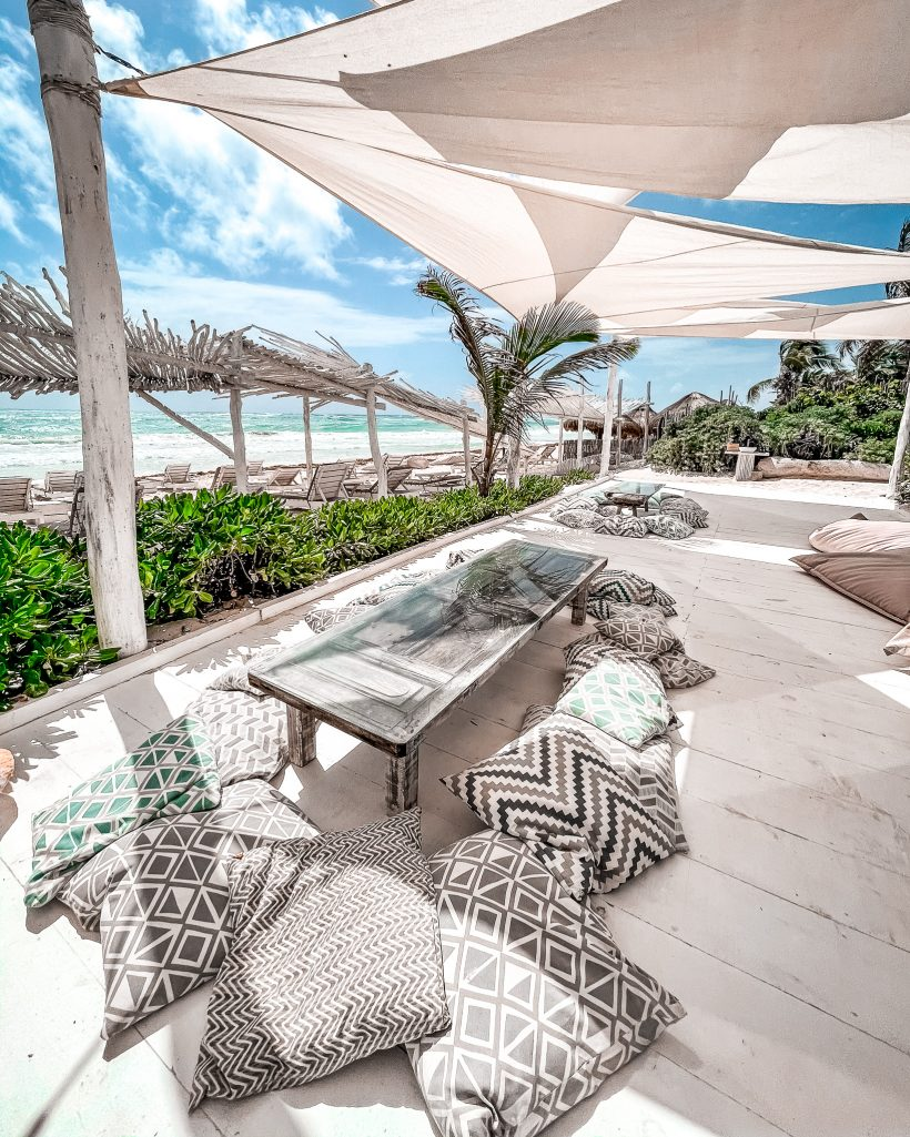 Lounge Area at Coco Tulum Beach Club