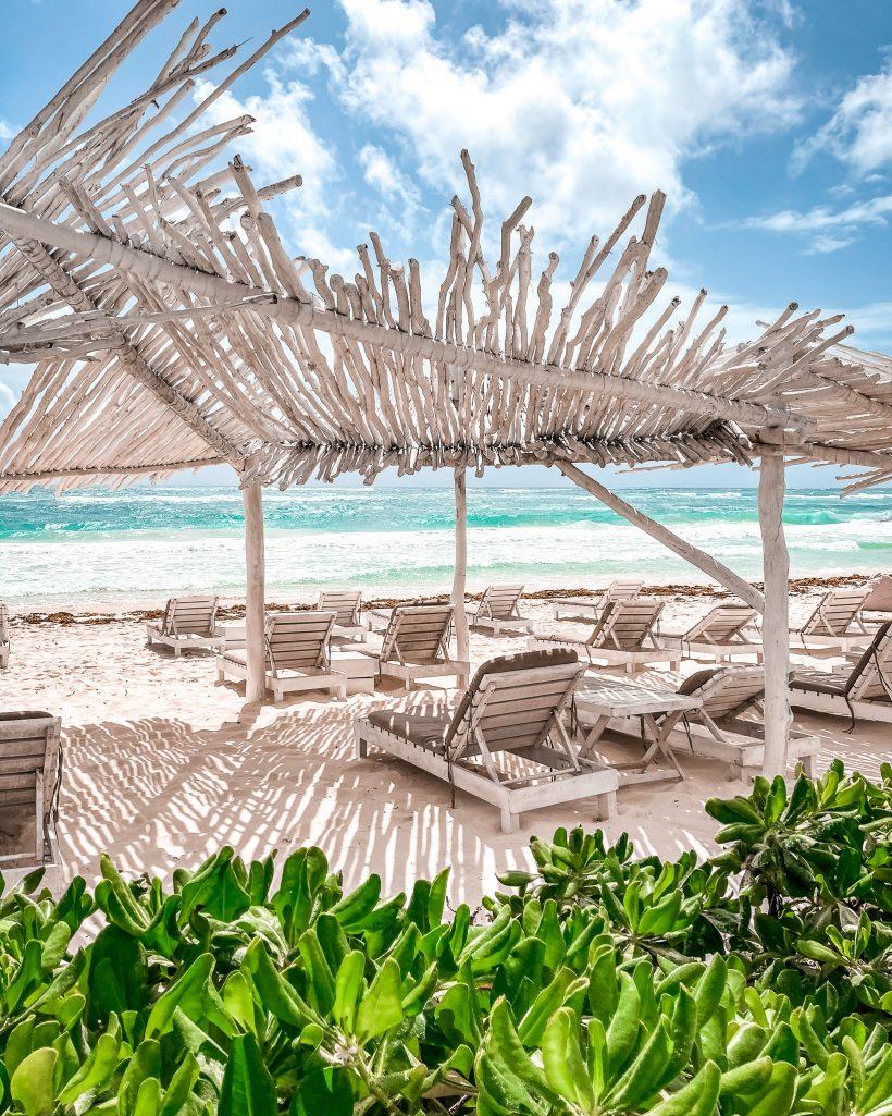 Sun Chairs at Coco Tulum Beach Club
