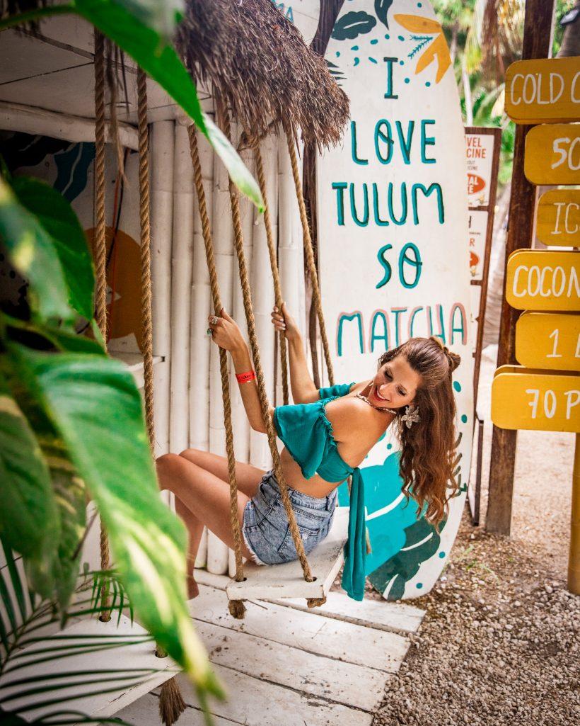 Bettina at Matcha Mama Tulum Beach