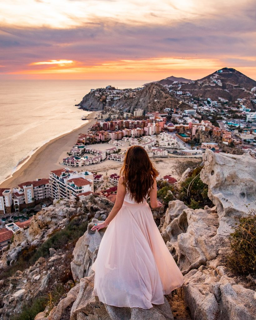 Sunset View of Cabo San Lucas from Mount Solmar